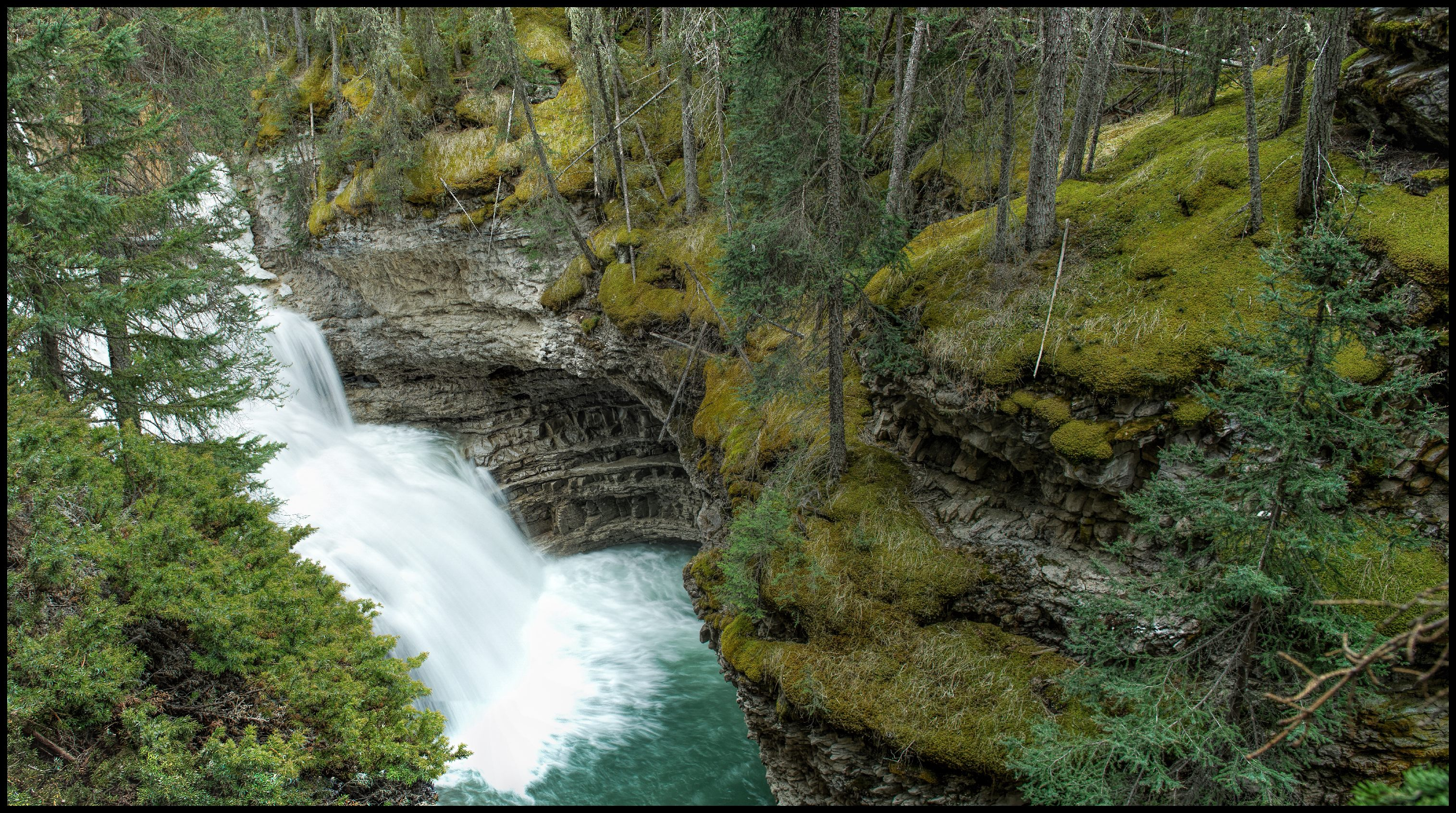 Johnston Canyon Gorge Waterfall Sony A7 / Canon FD Tilt Shift 35 2.8
