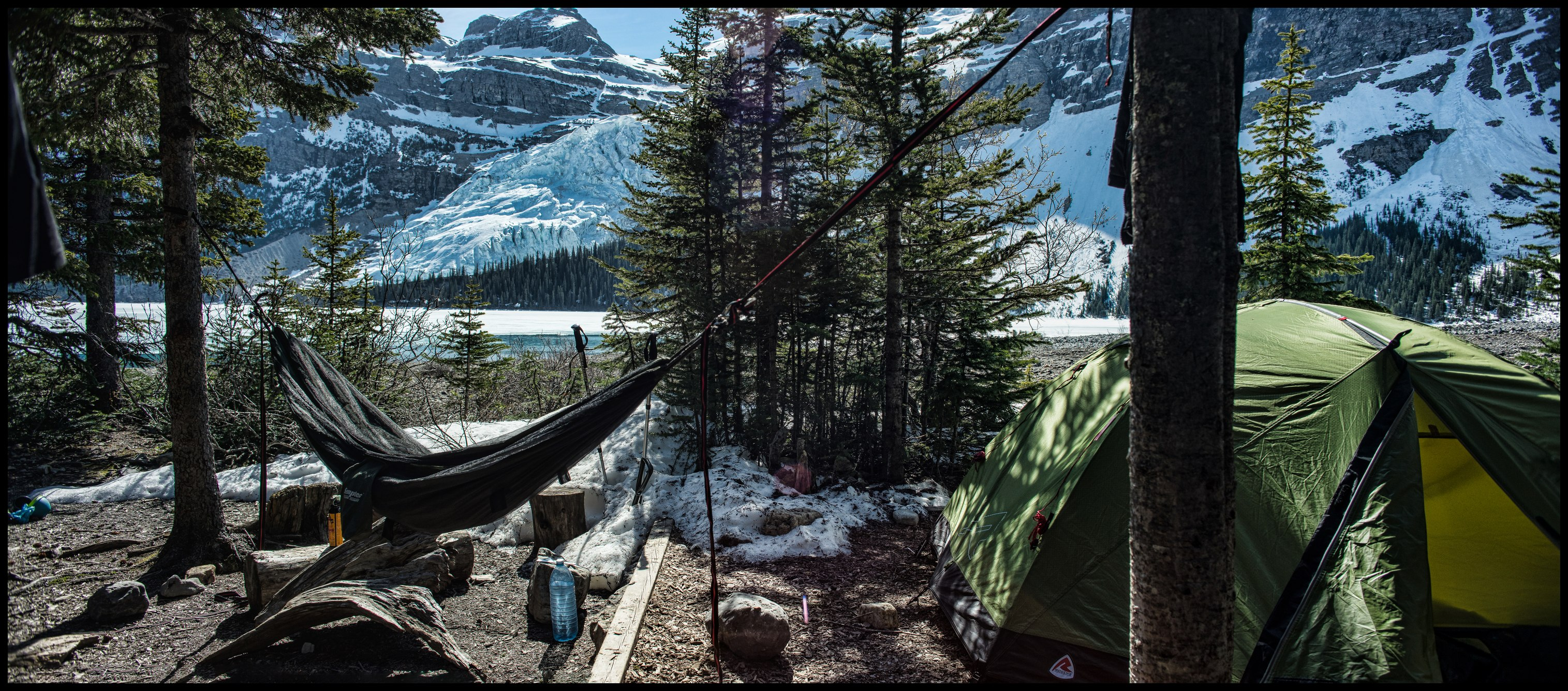 Berg Lake / Marmot campsite panorama, Sony A7 / Canon FD Tilt Shift 35 2.8