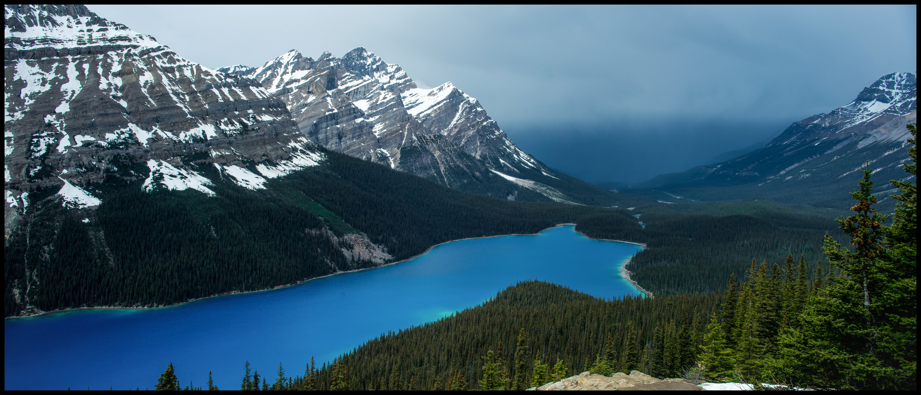 Peyto Lake colours after the storm Sony A7 / Canon FD Tilt Shift 35 2.8