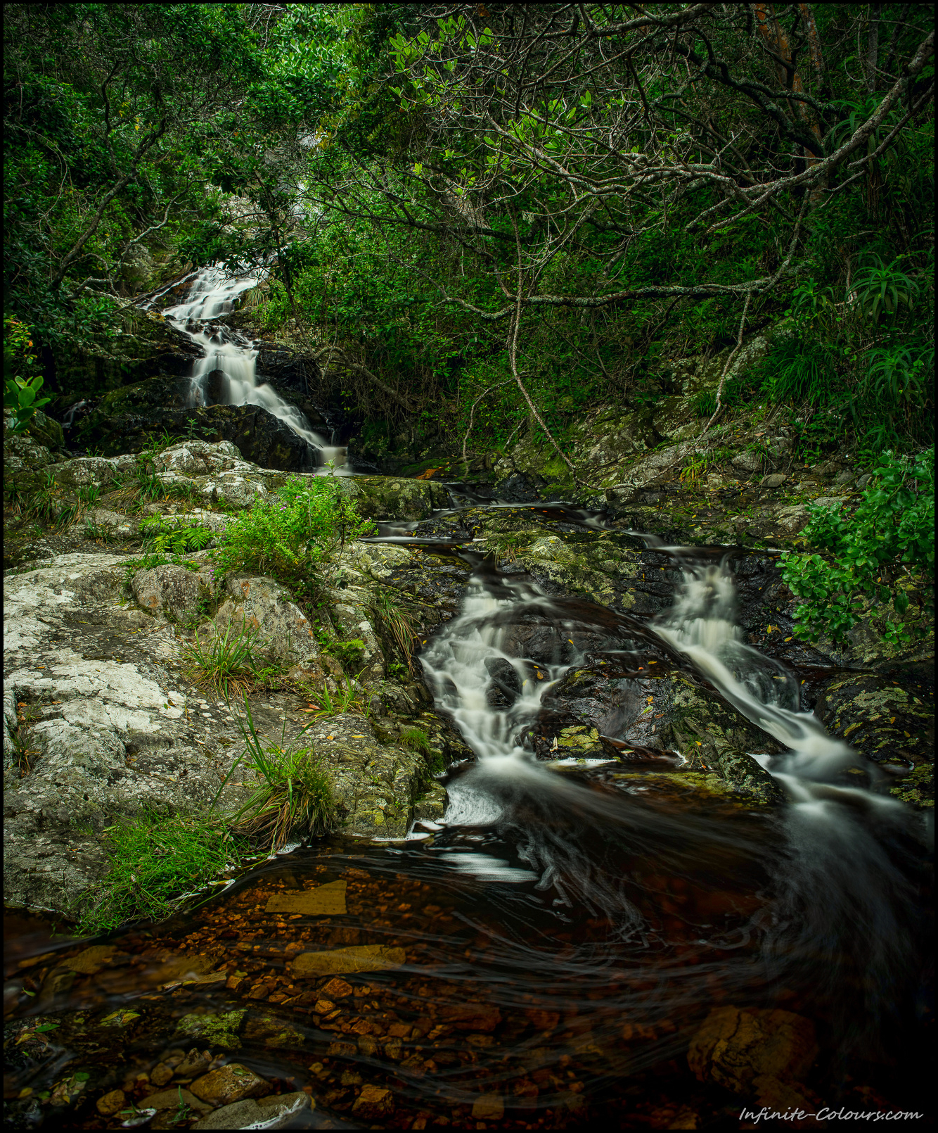 Small waterfalls are plentiful along the entire hike and usually provide good sources of drinking water