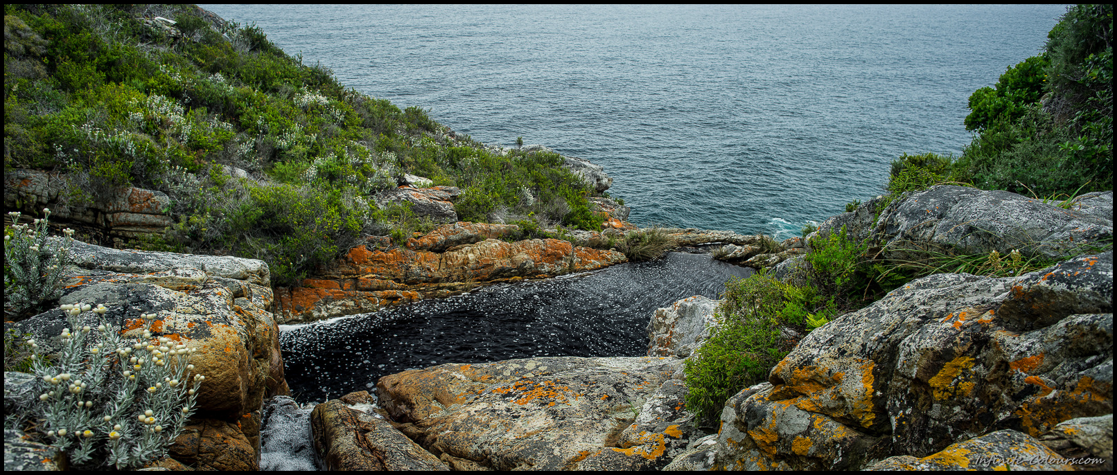 A stunning natural infinity-pool made a superb stopover on the way to the Bloukrans river