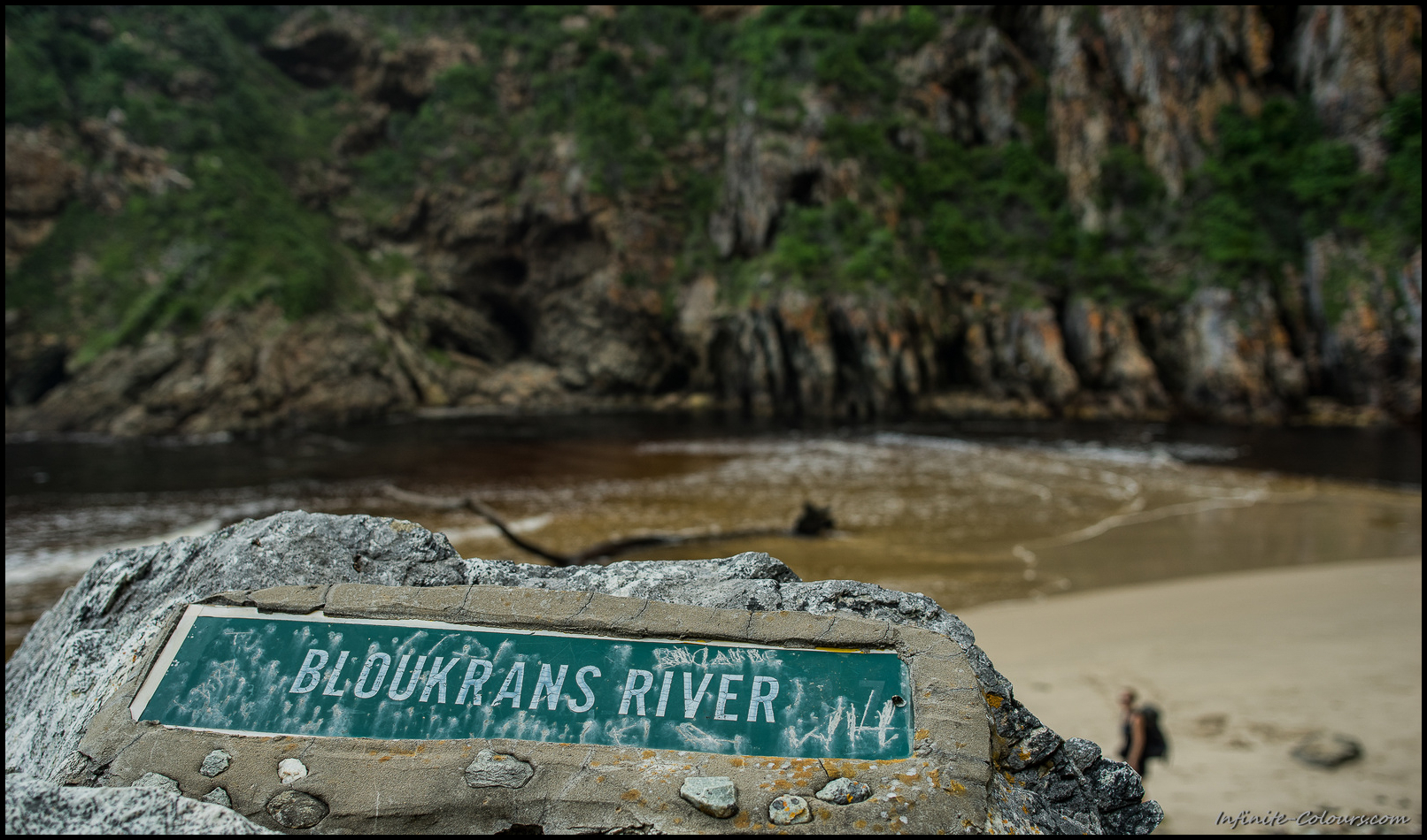 Battle-scared Bloukrans River sign