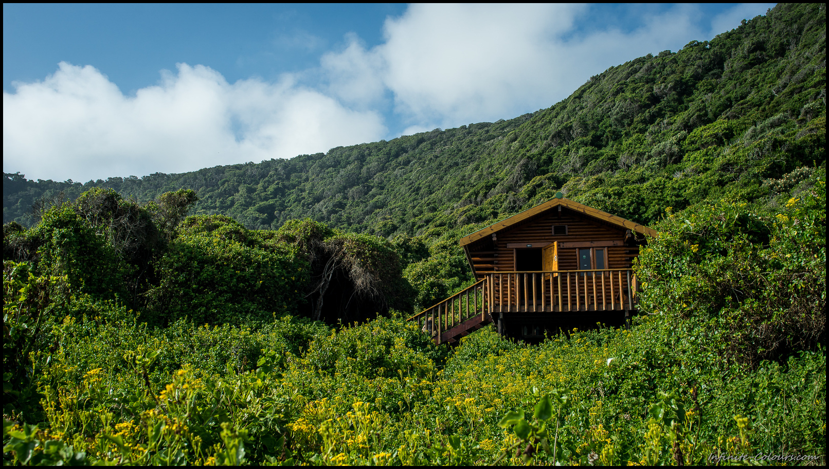 First home on the trail are the beautifully situated Ngubu huts