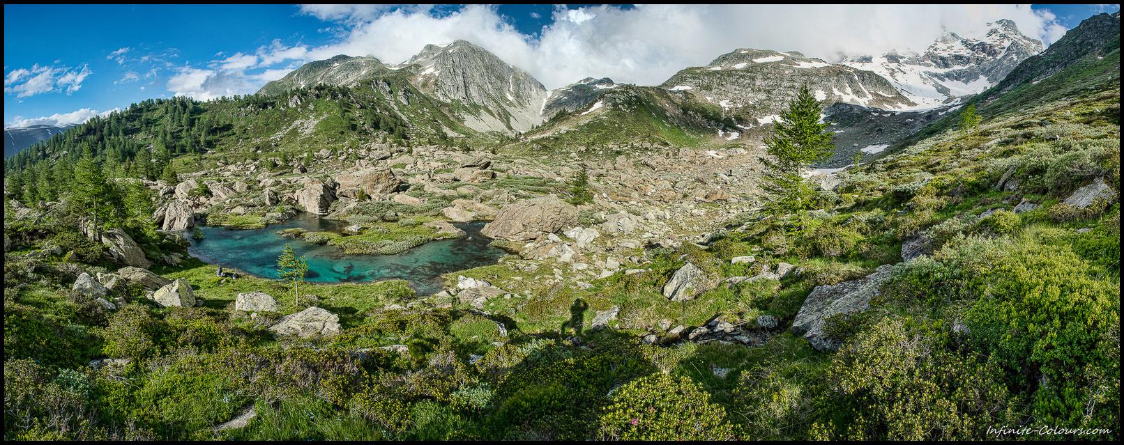 Mässerbach valley panorama