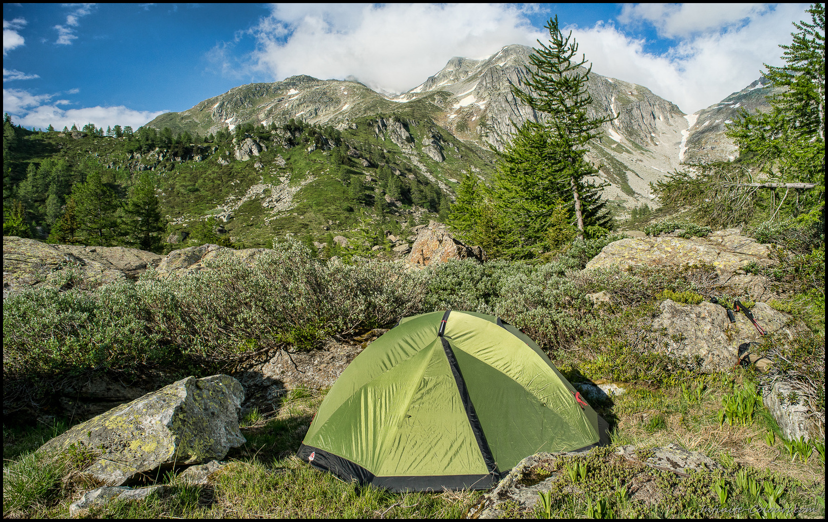 Binntal camping spot, Mässerbach
