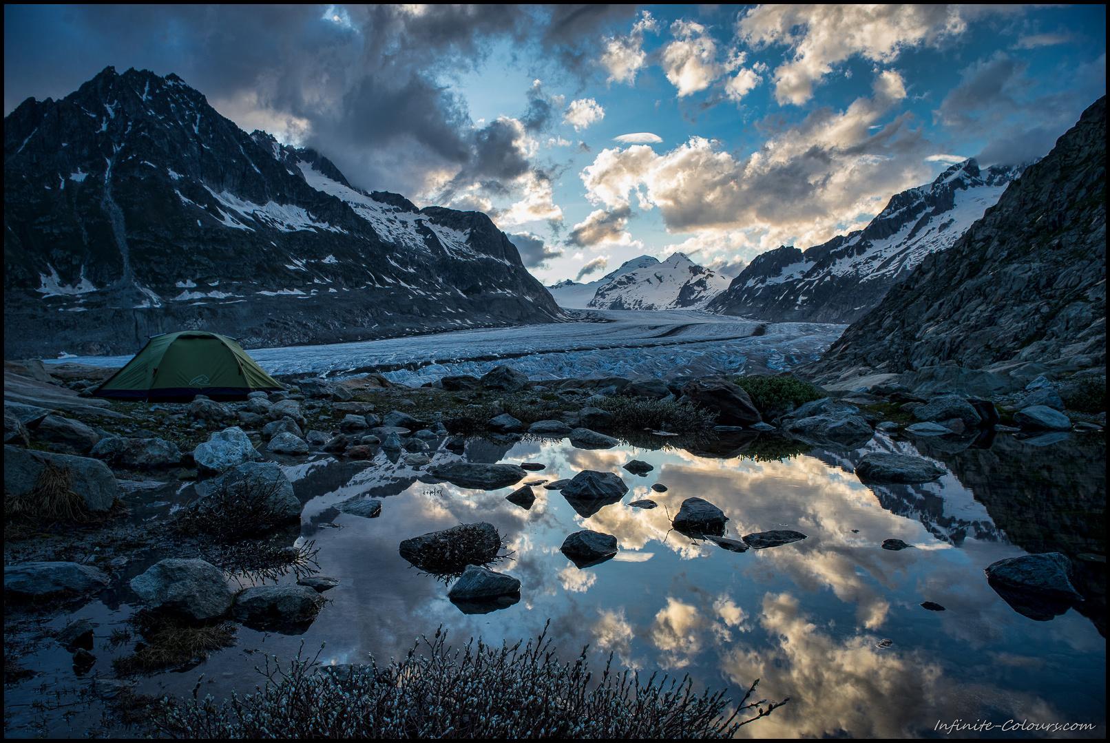 Jungfrau Aletsch glacier camp II