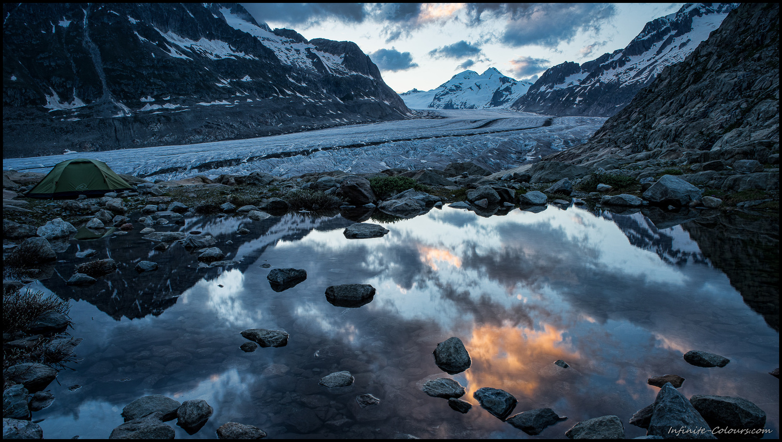 Jungfrau Aletsch glacier camp III