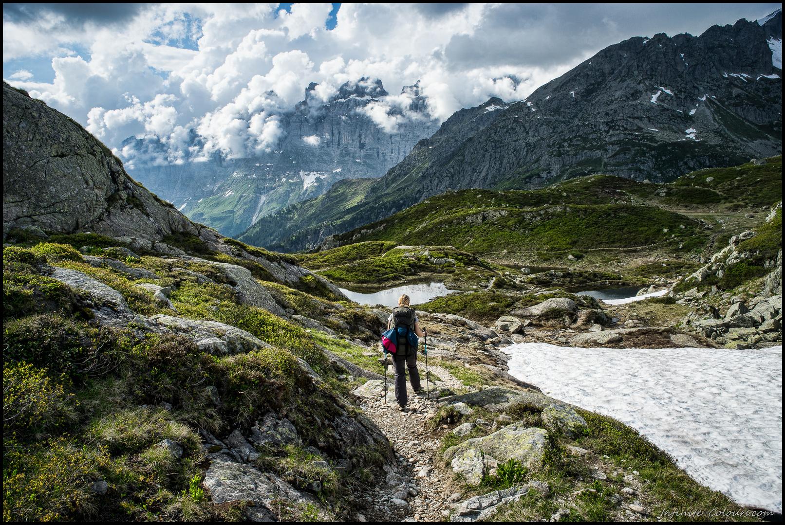 Hiking towards Seebodensee / Talegglisee