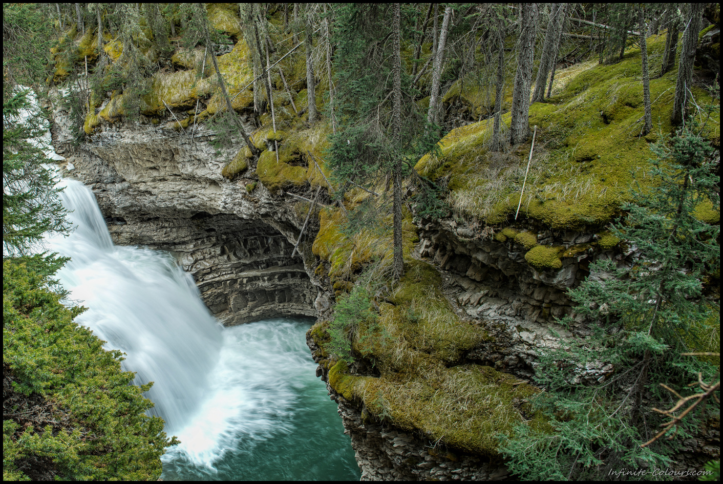 Johnston Canyon Gorge Waterfall