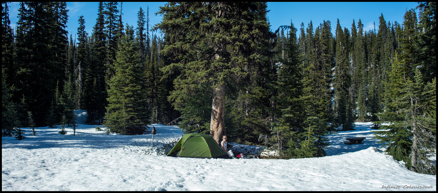 Yoho Lake Winter Camping