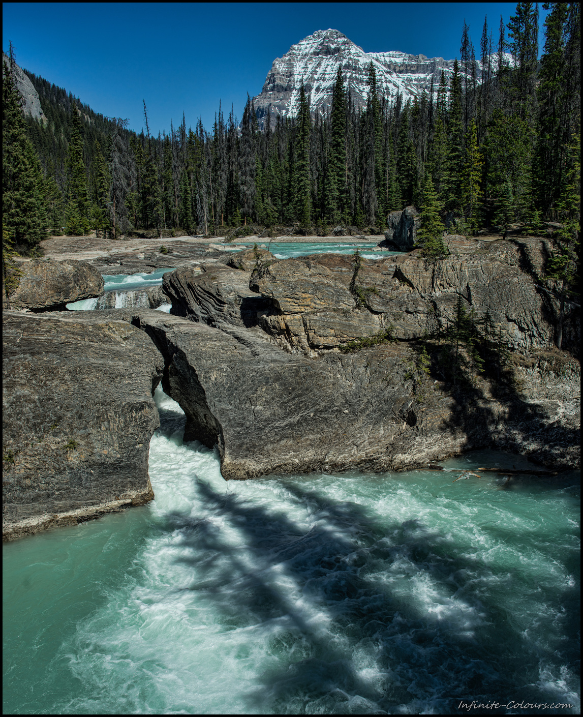 Natural bridge / Kicking horse river, Yoho National Park