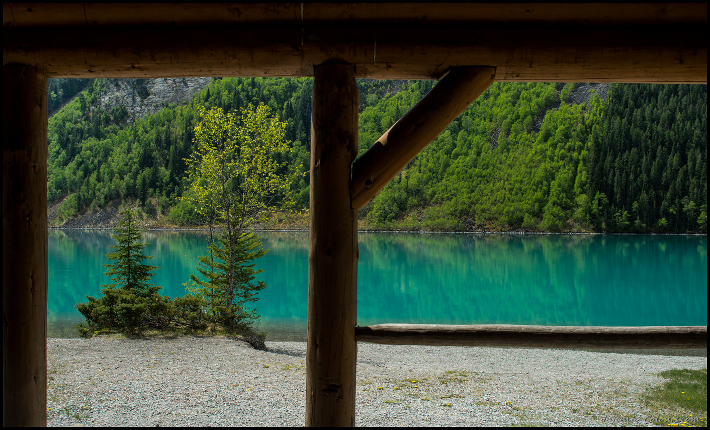 Colours of Kinney Lake campground shelter