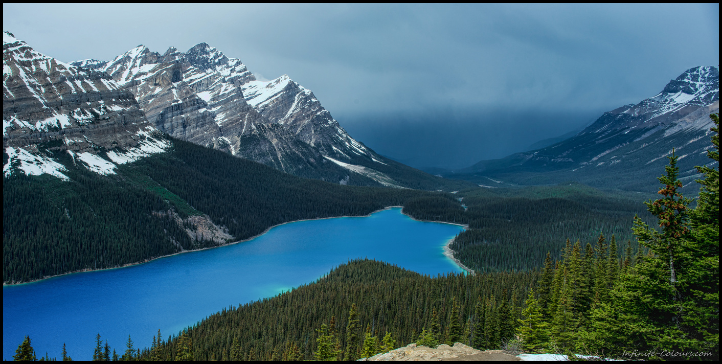 Peyto Lake colours after the storm