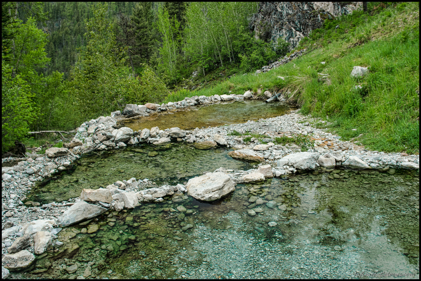 Ram Creek warm Springs pools