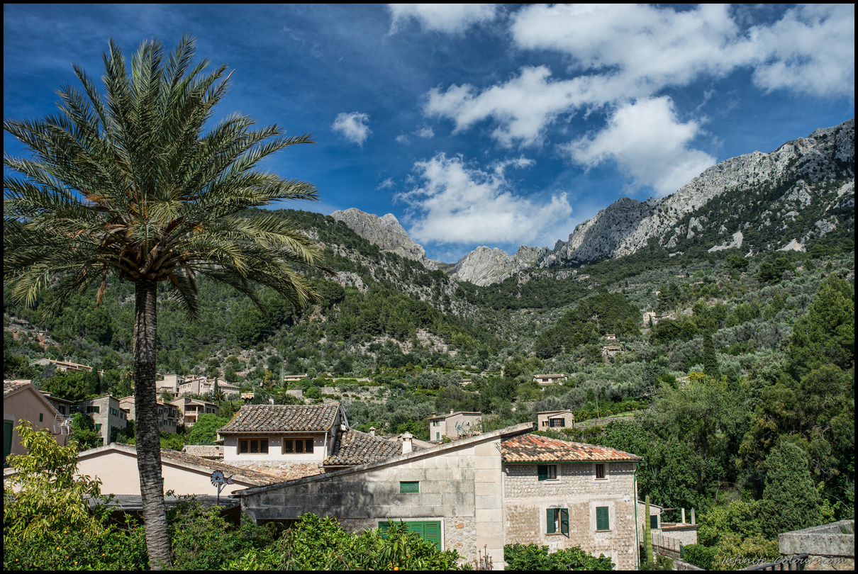 Fornalutx with the beautiful backdrop of the Tramuntana range