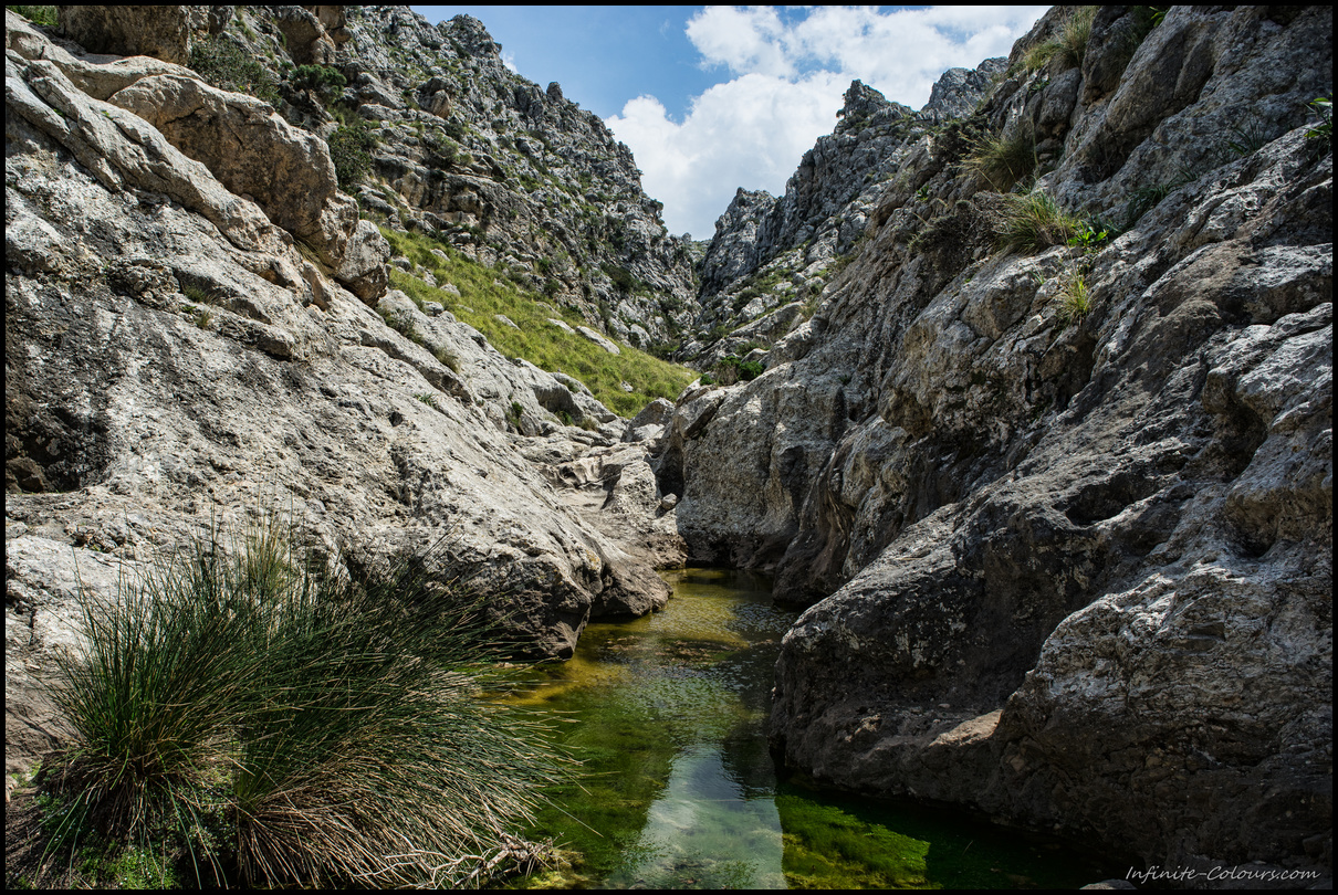 Low water levels made the scramble up Torrent de Mortitx reasonably easy