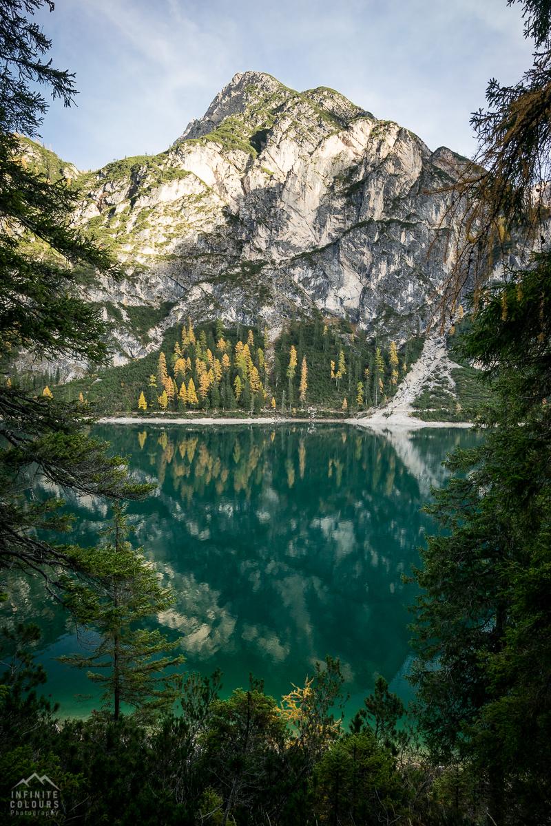 Pragser Wildsee - Lago di Braies landscape photography golden larches dolomites gelbe lärchen dolomiten herbst landschaftsfotografie