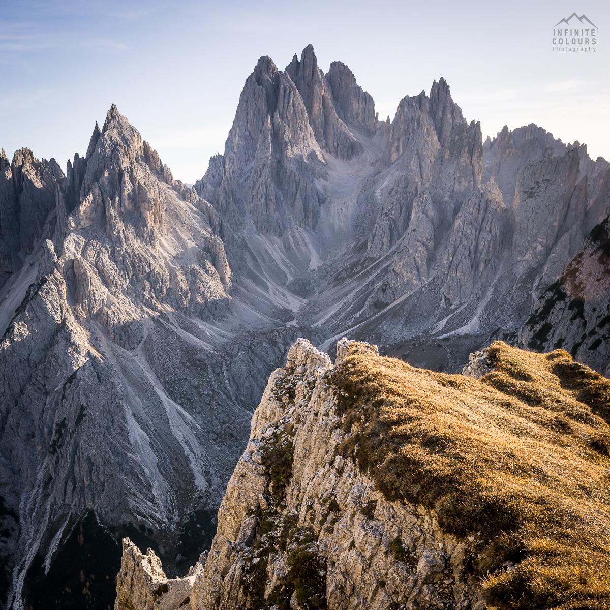 Cadini di Misurina from Sentiero Bonacossa @ Monte Campedelle - Cimon di Croda Liscia, Torre Siorpaes