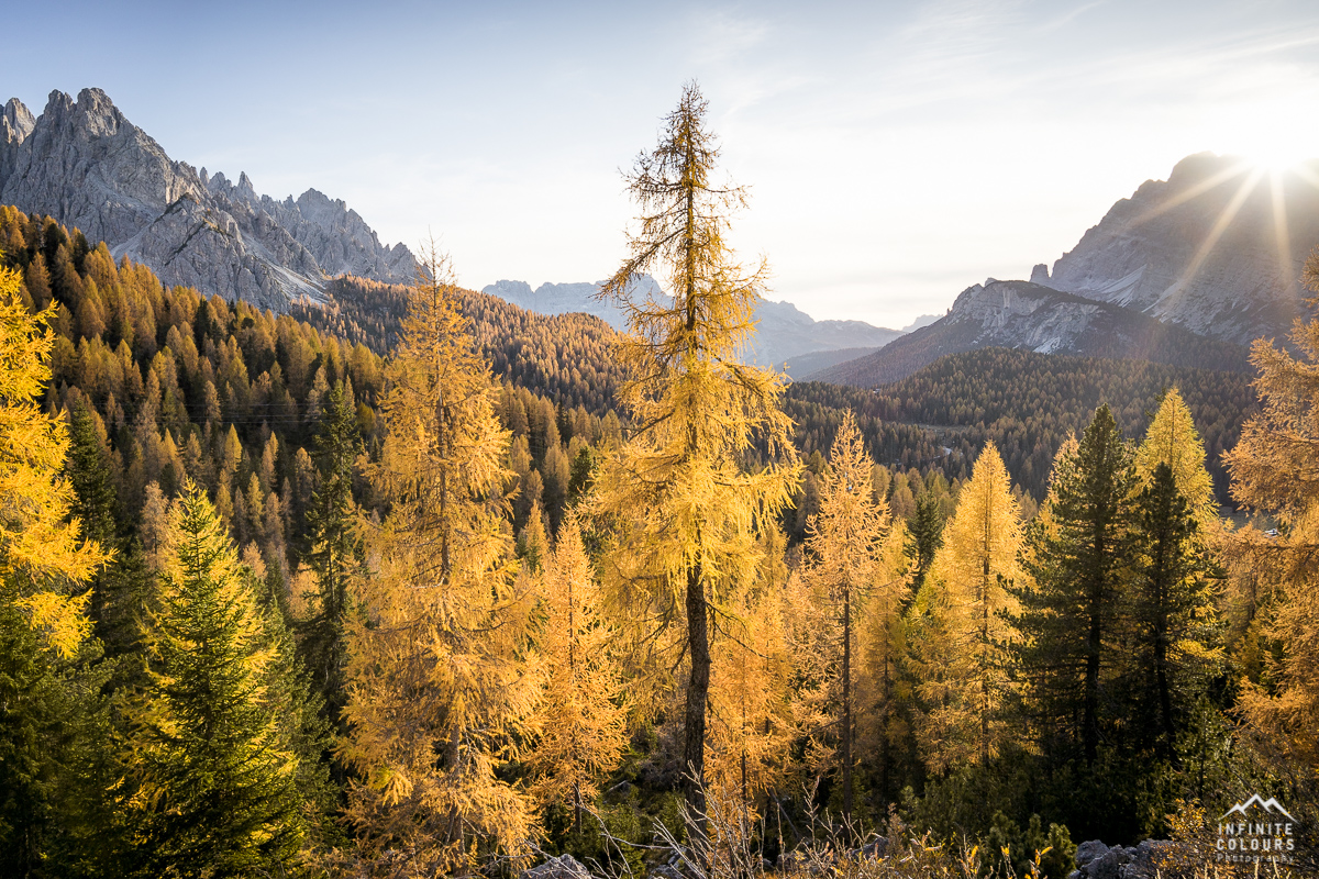 Valle Misurina + Cadin di Misurina sunset autumn larches dolomites sonnenuntergang herbst lärchen golden landschaftsfotografie dolomiten goldenes licht