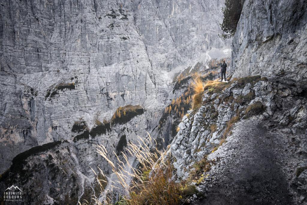 Col del Fuoco vergical mountain wall Lago Sorapis