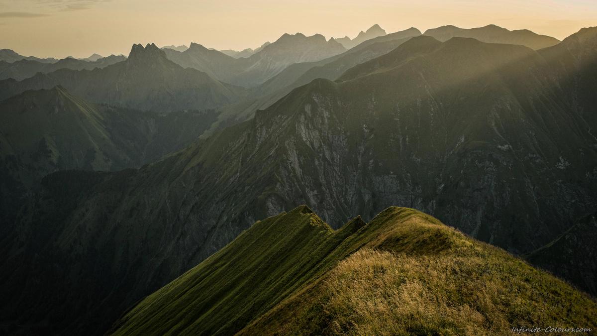 Höfats Wildengundkopf Märchenwiese Allgäu Trettachspitze Sonnenaufgang Biwak Allgäuer Hauptkamm
