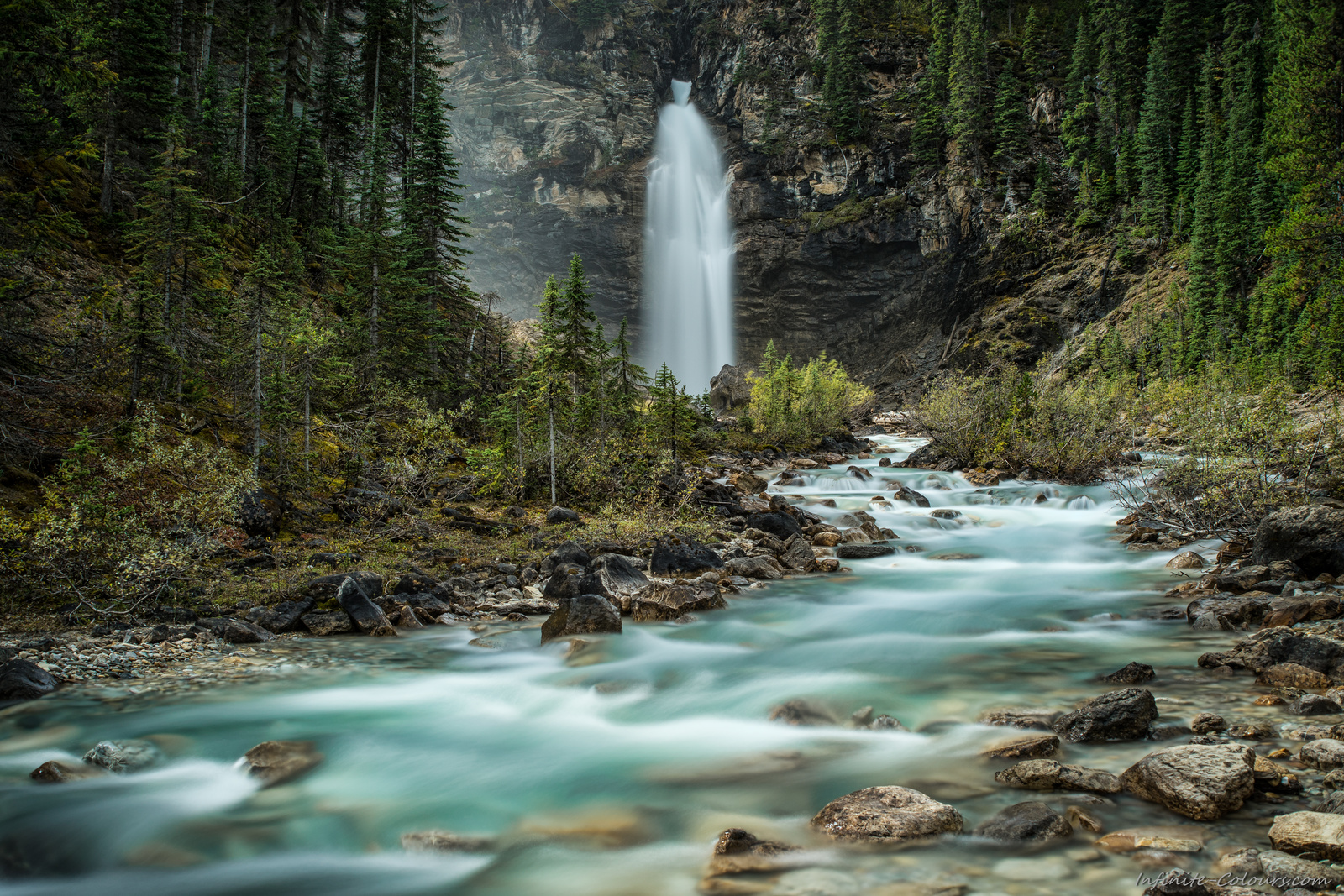 Laughing Falls of Little Yoho River photography