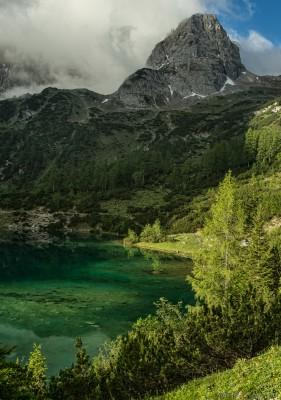 Drachenkopf Seealpsee Tirol Alpen See türkis Zugspitzarena Sony A7 Minolta MD 35-70 3.5 macro
