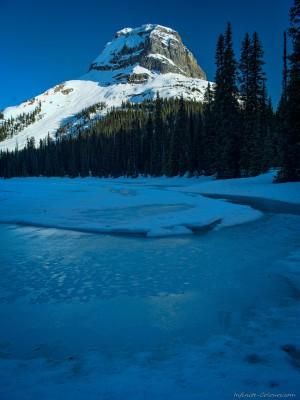 Frozen Yoho Lake / Wapta Mountain from Yoho Lake backcountry Yoho, British Columbia, Canada landscape photography fotografie Sony A7 Canon FD 35mm tilt shift 2.8