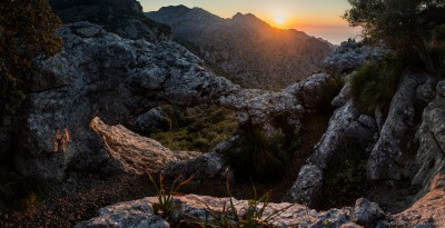 Sunset at natural arch, Torrent de Parais, Tramuntana (III)