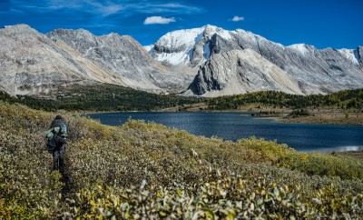 Hike to Baker Lake backcountry campground SK18 Skoki trail, Banff National Park photography fotografie Sony A7 Minolta MD 35-70 3.5 macro