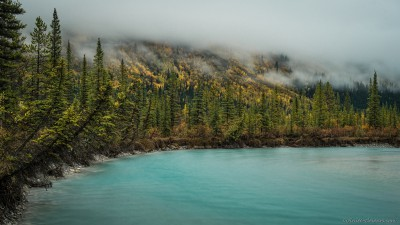 Sony A7 Minolta MD 35-75 3.5 macro Saskatchewan autumn mistNorth Saskatchewan River Rampart Creek Banff National Park photography landscape fotografie