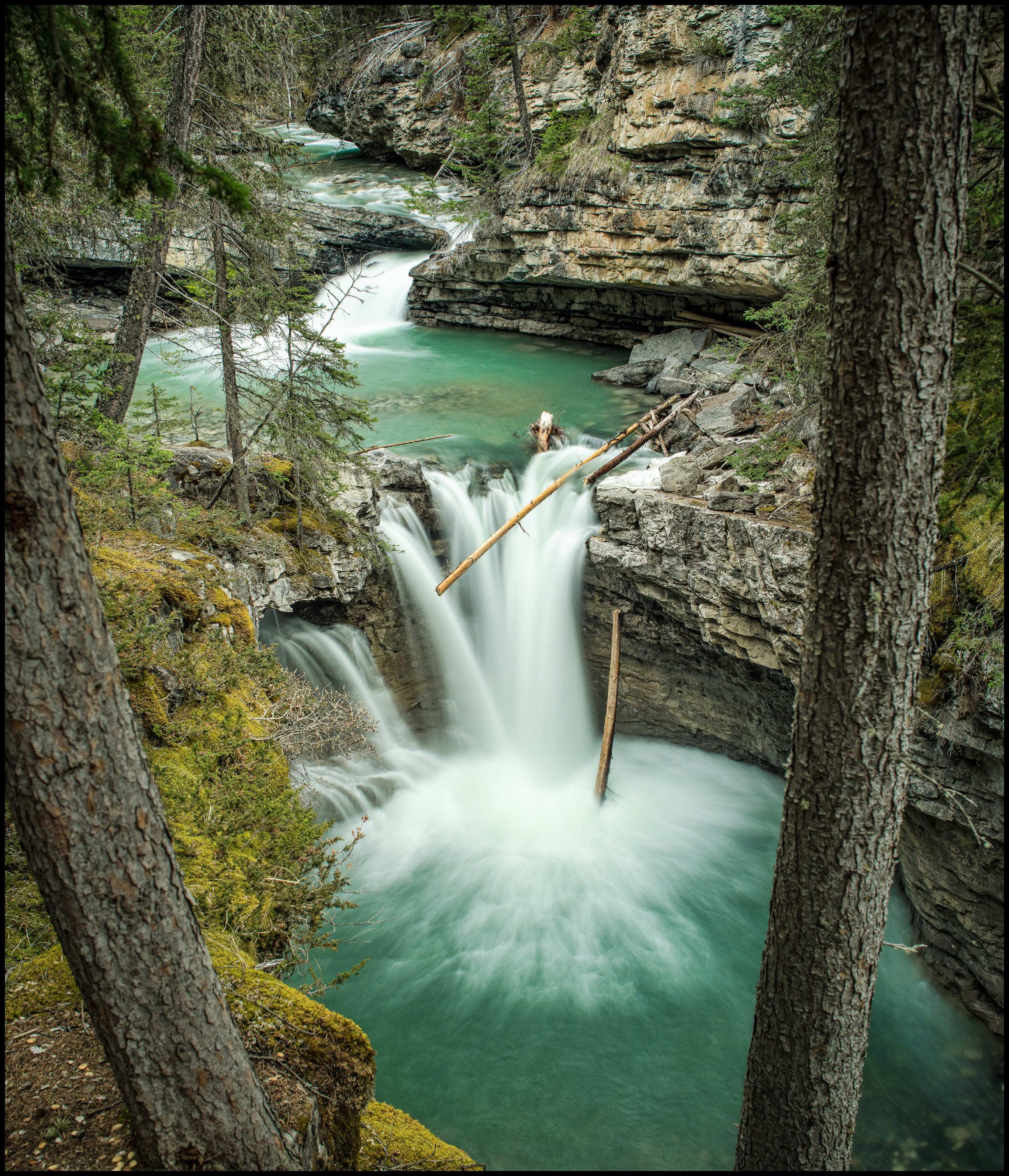 Johnston Canyon Gorge Waterfall Sony A7 / Canon FD Tilt Shift 35 2.8