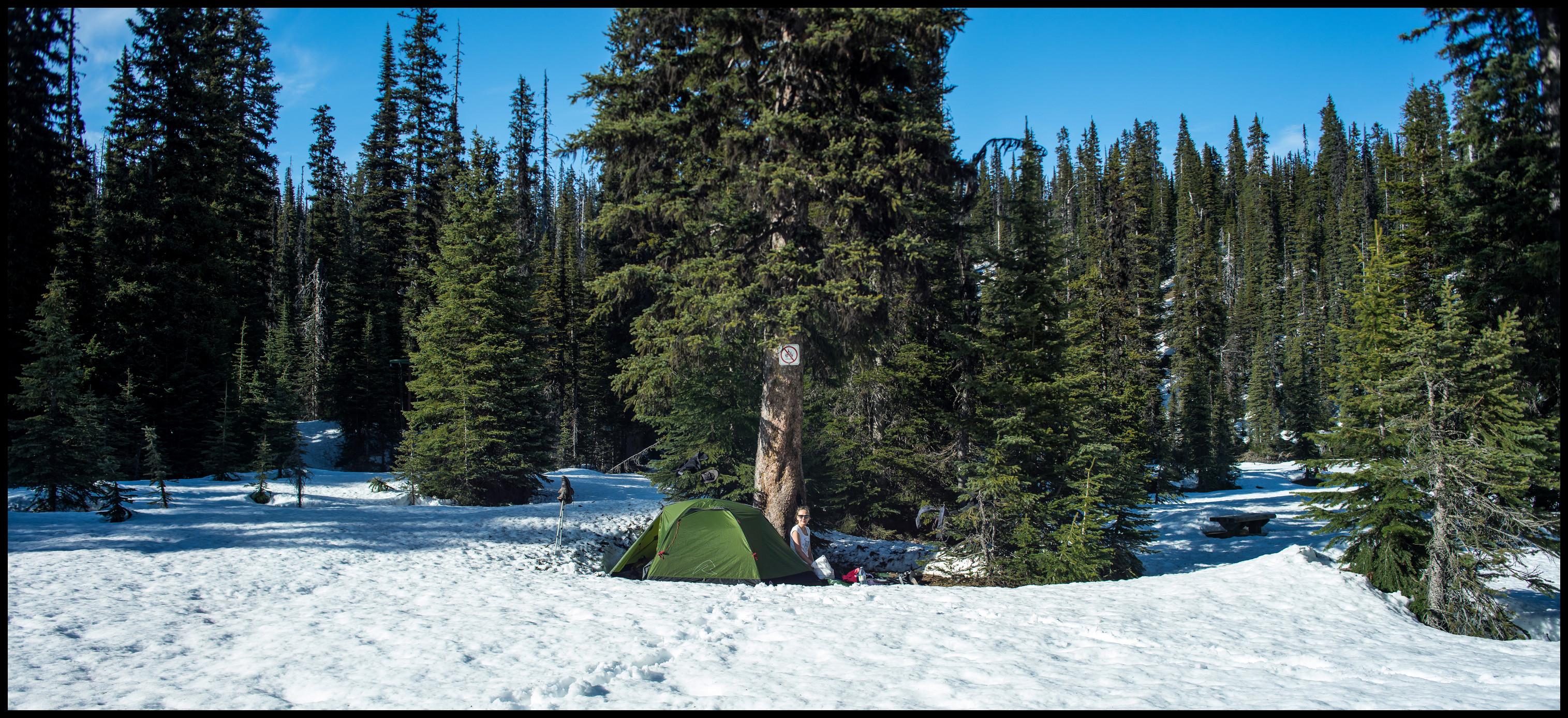 Yoho Lake Winter Camping Sony A7 / Canon FD Tilt Shift 35 2.8