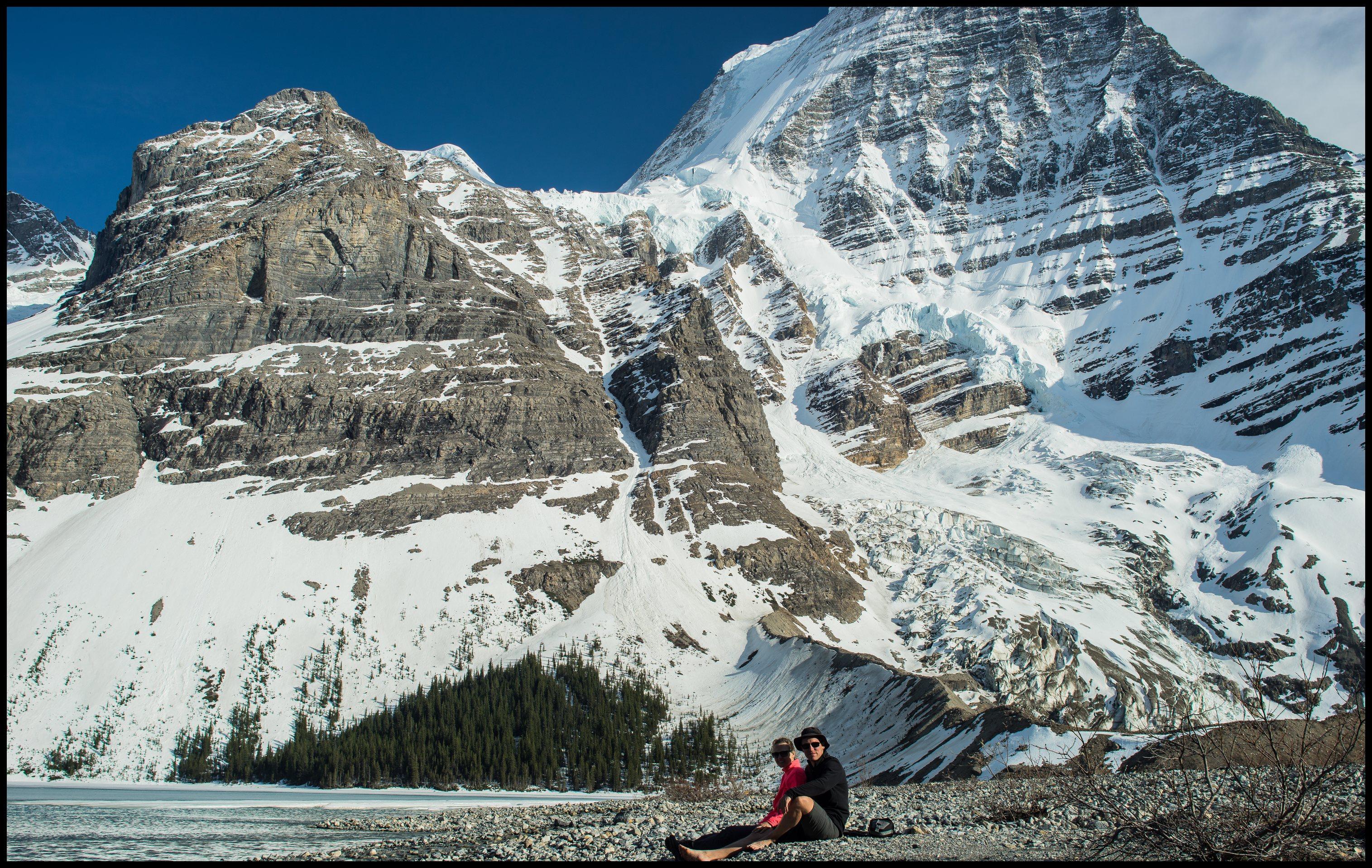 Enjoying our private Berg lake beach at Marmot campsite, Sony A7 / Canon FD Tilt Shift 35 2.8