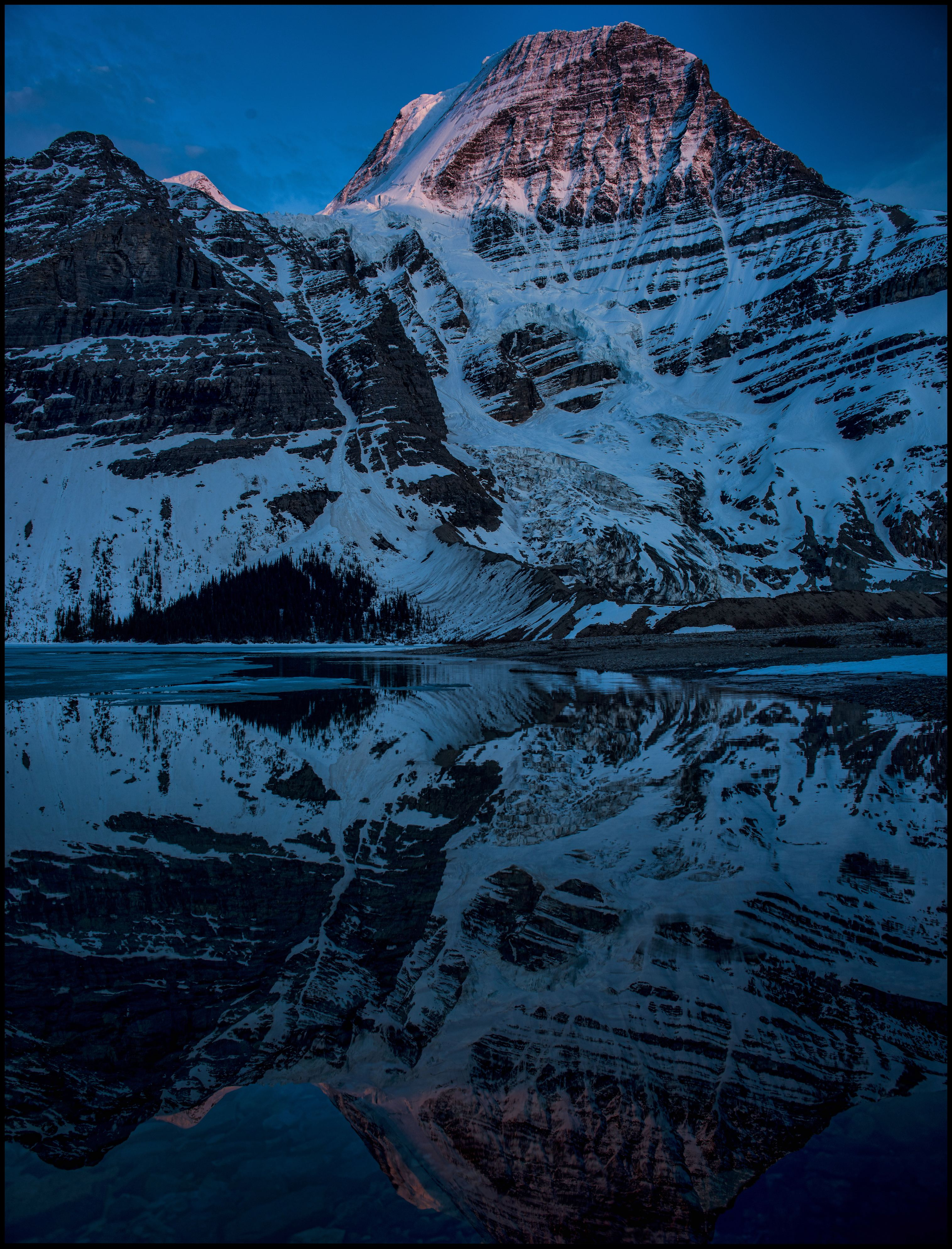 Mount Robson reflections at sunset, Berg Lake / Marmot campsite, Sony A7 / Canon FD Tilt Shift 35 Sony A7 / Canon FD Tilt Shift 35 2.8