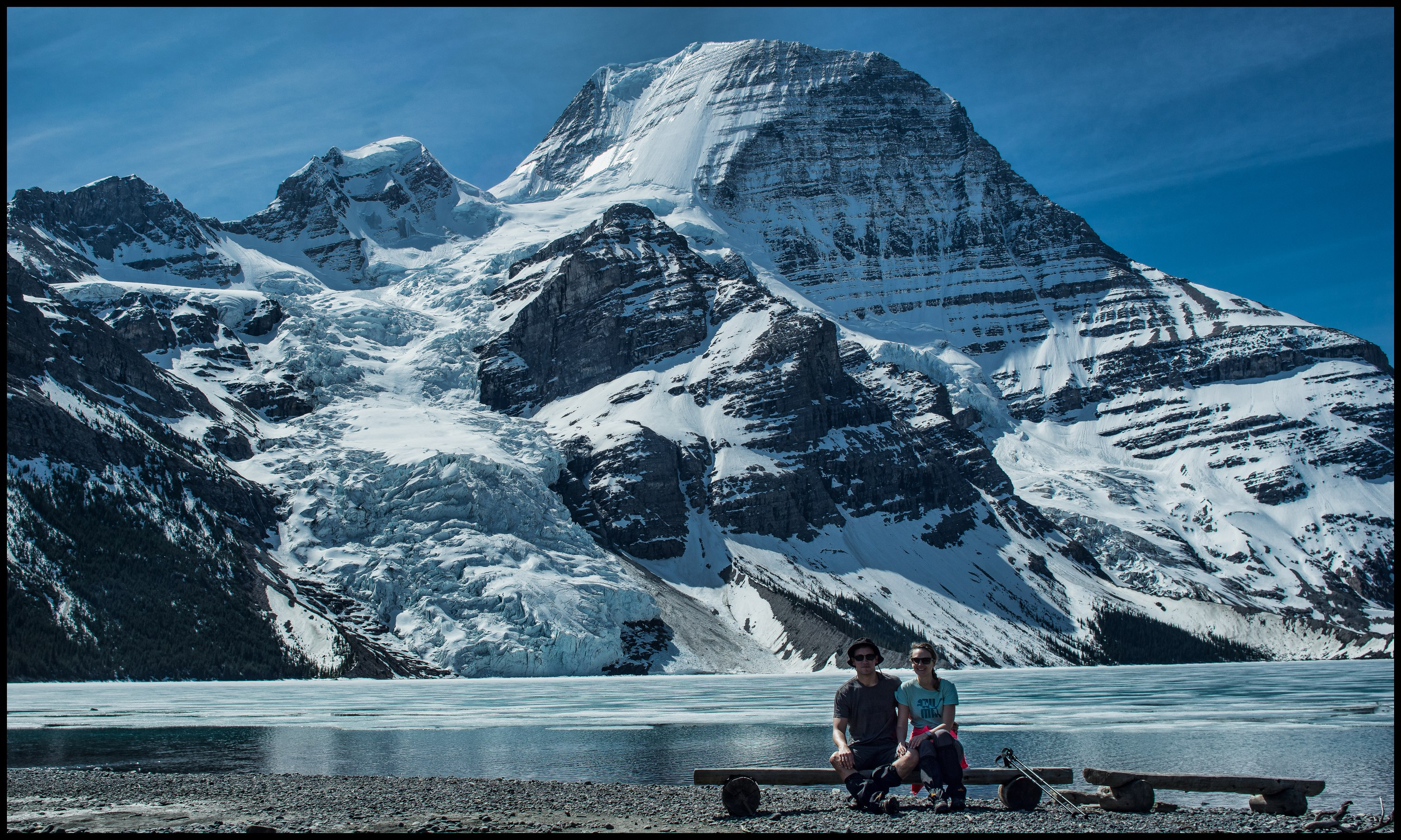 Berg Lake bench with glacier view Sony A7 / Canon FD Tilt Shift 35 2.8