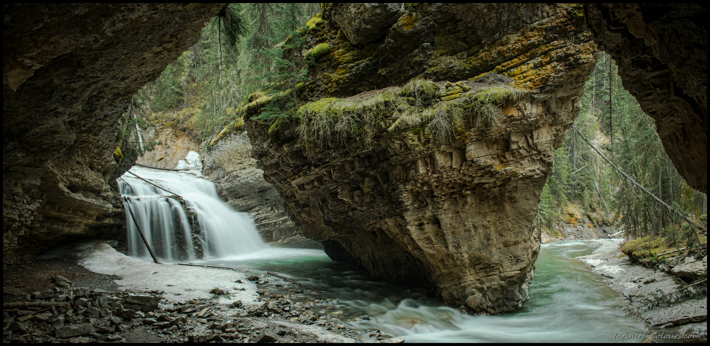 Johnston Canyon Gorge Waterfall