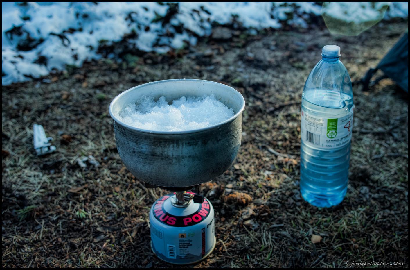 Melting ice @ Yoho Lake Winter Camp