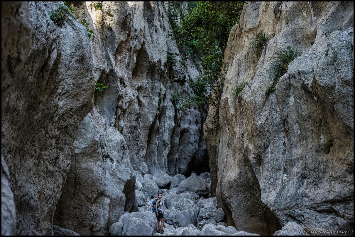 Beautiful karst canyon landscape
