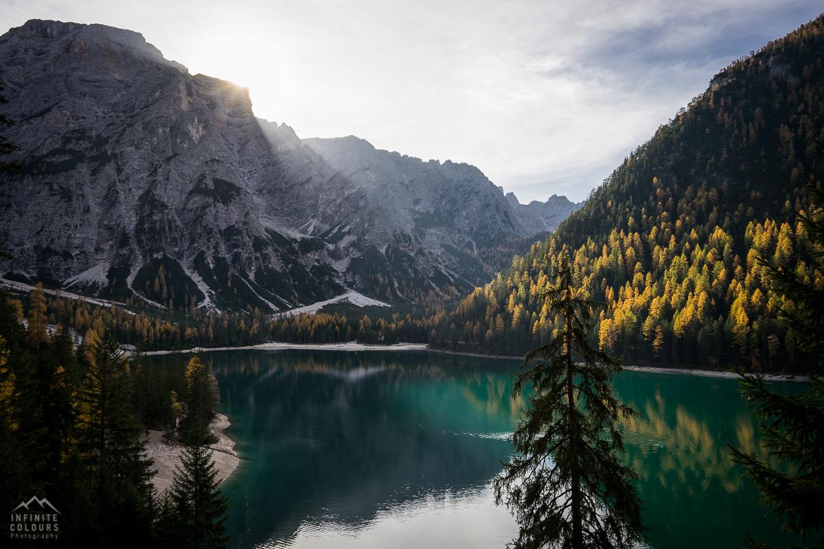 Pragser Wildsee - Lago di Braies Seekofel landscape photography golden larches dolomites gelbe lärchen dolomiten herbst landschaftsfotografie