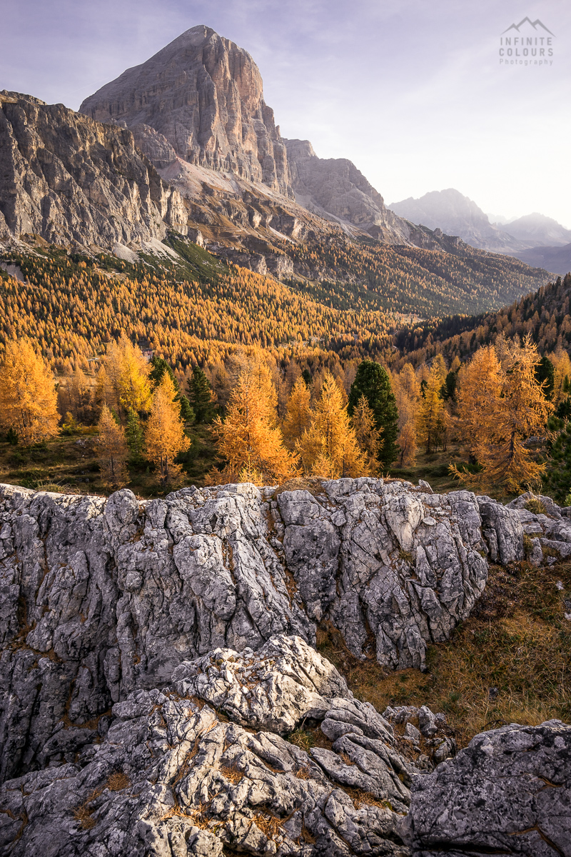 Tofana di Rozzes Cortina d'Ampezzo landscape photography mountains sunrise autum herbst sonnenaufgang dolomiten
