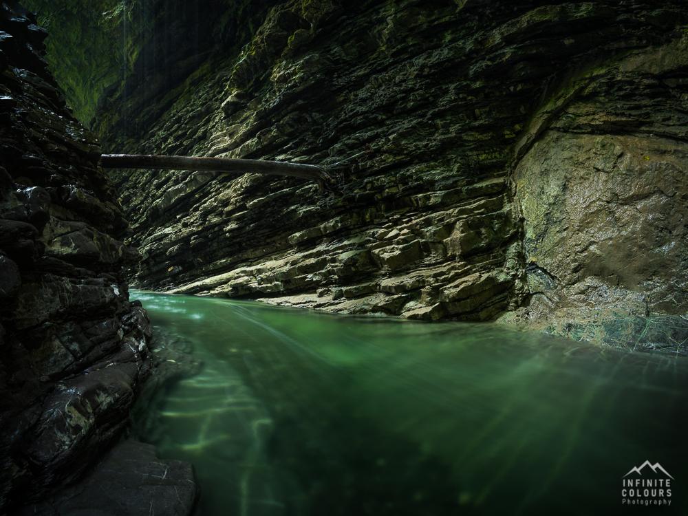 Rheintal Vorarlberg Schlucht Slot Canyon Wasserfall Landschaftsfotografie Klamm Canyon Frödisch Canyoning Vorarlberg Feldkirch Bregenz Österreich Fotografie Gumpen