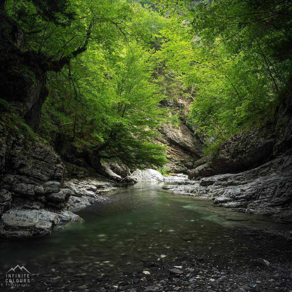 Rheintal Vorarlberg Schlucht Klamm Canyon Frödisch Canyoning Vorarlberg Feldkirch Bregenz Österreich Fotografie Gumpen