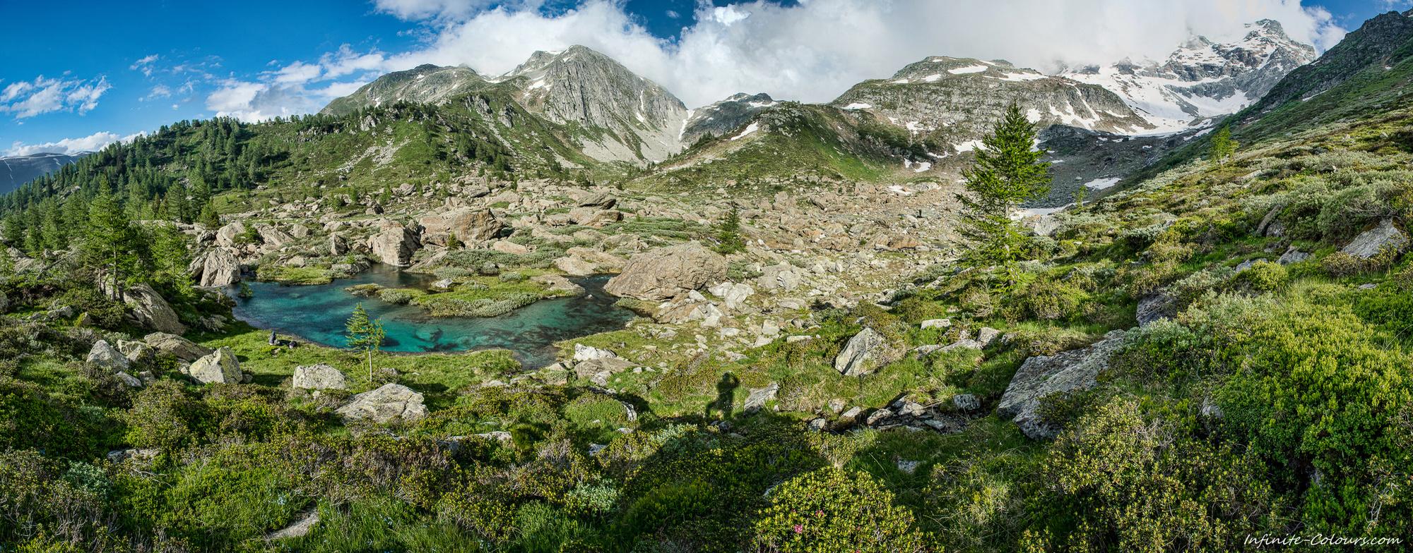 Binntal Mässerbach Schweiz Mässerbach panorama selfie photography