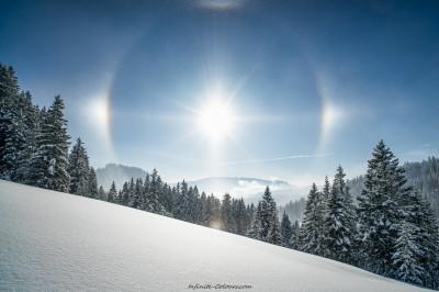 Allgaeu Winterwanderung Riedbergpass Oberstdorf Schneeschuhtour