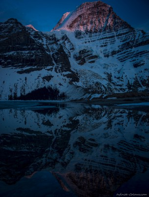 Mount Robson sunset with Robson Glacier Robson Provincial Park, BC