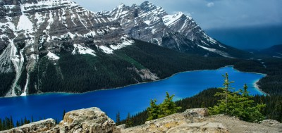 Peyto Lake after the storm Banff, Alberta, Canada