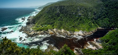 Lottering River mouth at Oakhurst huts South Africa, Ostkap