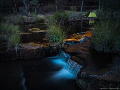 Dales Gorge wild campsite Karijini National Park, Western Australia