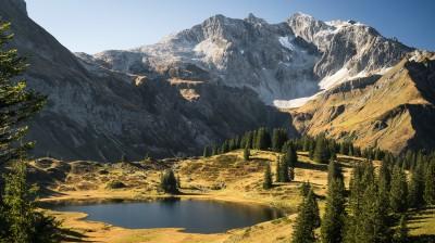 Braunarlspitze-Koerbersee-Landschaftsfotografie-Goldener-Herbst-Vorarlberg-Warth-Schroecken-Sonnenaufgang
